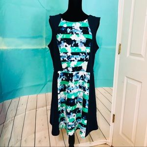 Covington blue and green dress